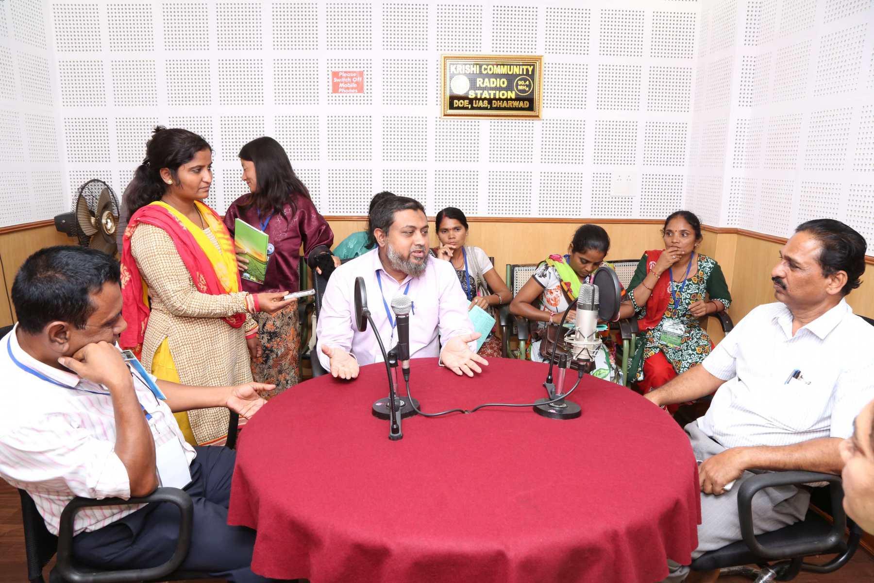 At community Radio station