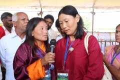 Bhutan farmers singing for farmers