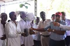 Dr. KV.Raman giving salping to farmers